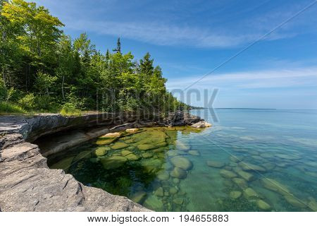 Paradise Cove on Lake Superior in the Upper Peninsula of Michigan.