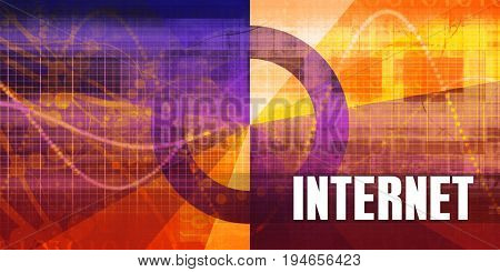 Internet Focus Concept on a Futuristic Abstract Background