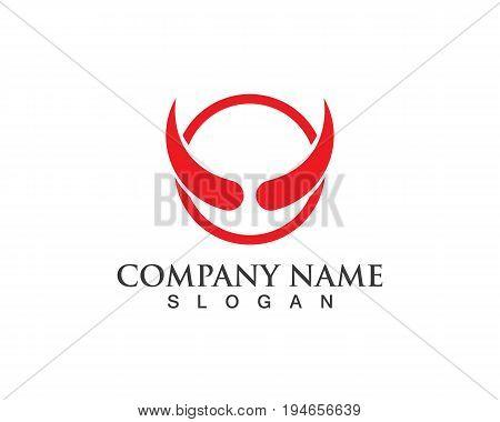 Bull horn logo and symbols template vector