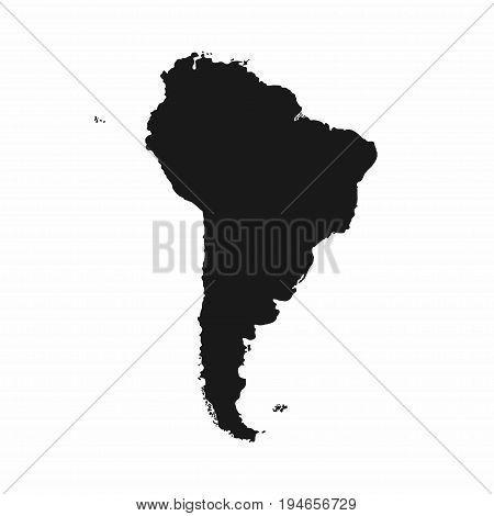 South America map. Monochrome South America icon. Vector