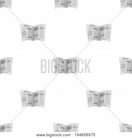 Newspaper.Old age single icon in cartoon style vector symbol stock illustration .