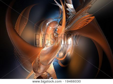 orange space style (abstract)