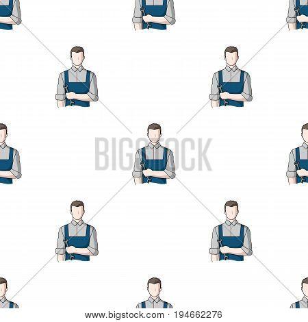 Fitter mechanic.Professions single icon in cartoon style vector symbol stock illustration .