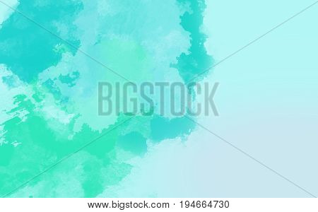 Abstract water color green with ocean background.