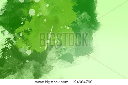 Abstract water color background green tone and painting.