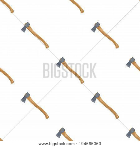 The ax is marching.Tent single icon in cartoon style vector symbol stock illustration .