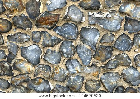 Flint Wall Background with copy space for design