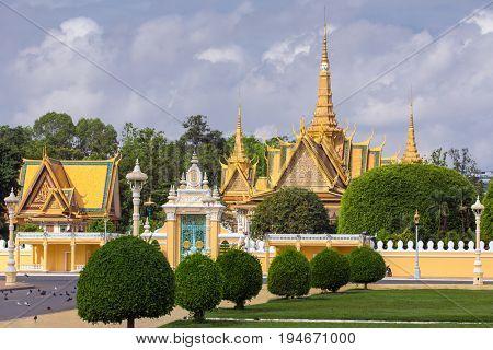 Royal Palace in Phnom Pehn, Cambodia