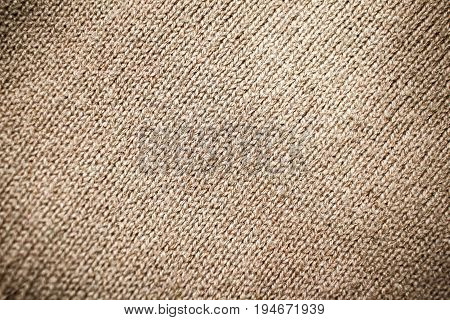 Light Brown Pullover Texture Close Up Detail Background