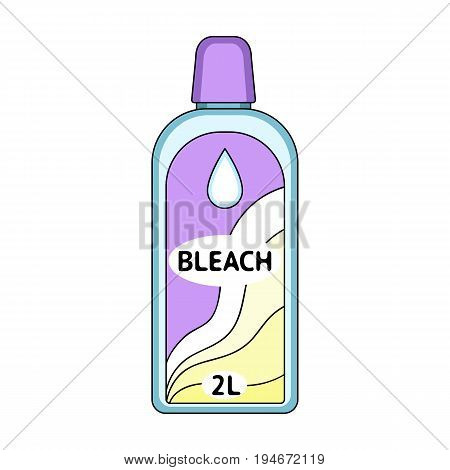 Bottle of bleach. Dry cleaning single icon in cartoon style vector symbol stock illustration .