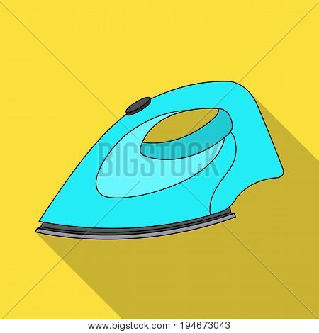 Iron for ironing. Dry cleaning single icon in flat style vector symbol stock illustration .