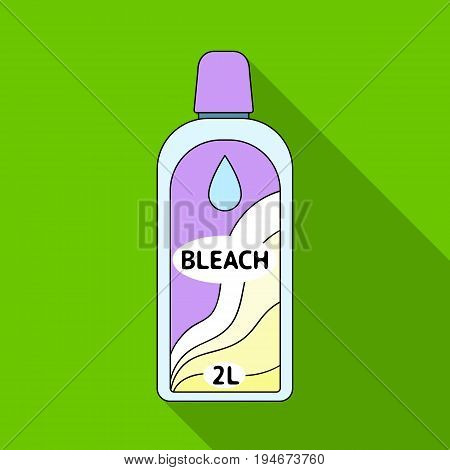 Bottle of bleach. Dry cleaning single icon in flat style vector symbol stock illustration .