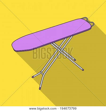 Ironing board. Dry cleaning single icon in flat style vector symbol stock illustration .