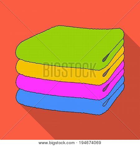 A stack of clean linen.Suhaya cleaning single icon in flat style vector symbol stock illustration .