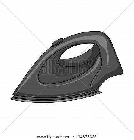 Iron for ironing. Dry cleaning single icon in outline style vector symbol stock illustration .