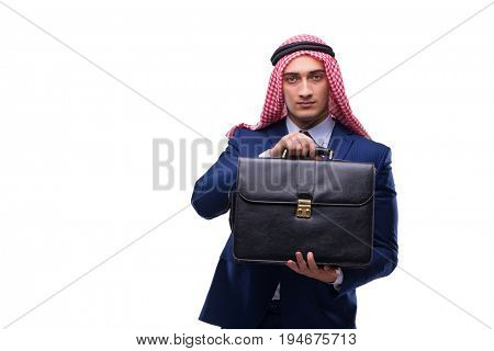 Arab businessman isolated on the white background