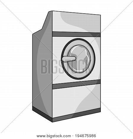 Industrial washing machine. Dry cleaning single icon in outline style vector symbol stock illustration .
