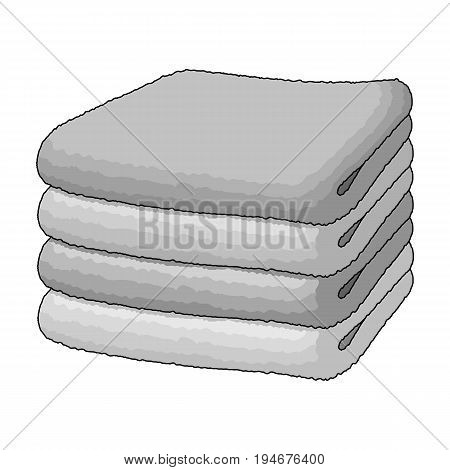A stack of clean linen.Suhaya cleaning single icon in outline style vector symbol stock illustration .