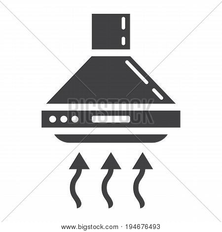 Extractor hood solid icon, kitchen and appliance, vector graphics, a glyph pattern on a white background, eps 10.