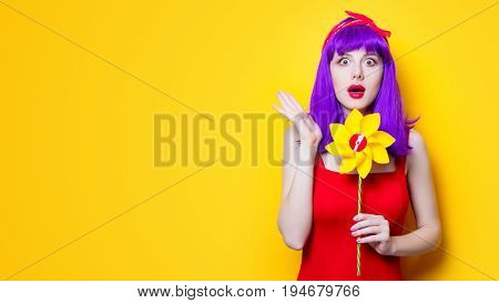 Girl With Pinwheel Toy