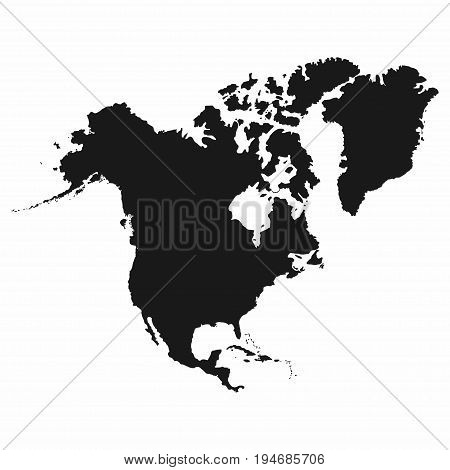 North America Map. Monochrome North America Icon