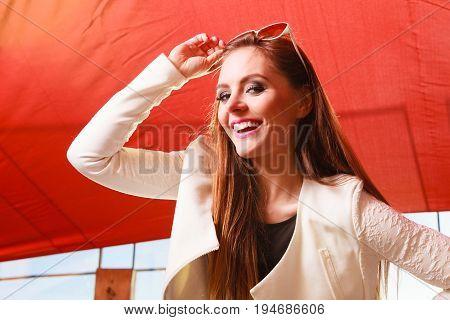 Beauty Smiling Woman Portrait