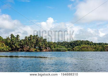 Jungle Village In The Delta Of Rio Verde, Ecuador