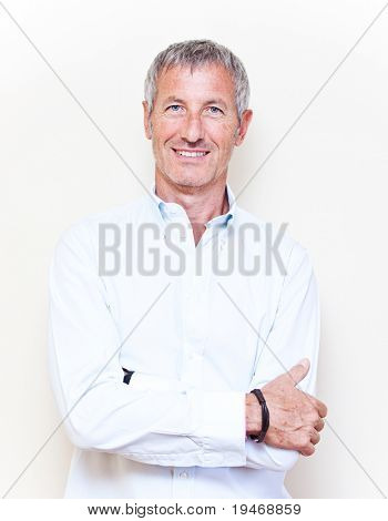 Elegant  smiling man portrait