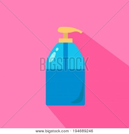 Liquid Soap Dispenser Pump Round Plastic Bottle Transparent