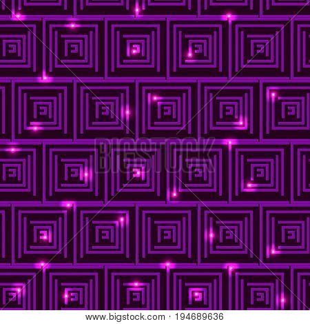 Square Labyrinth Background, Liliac Colour, Vector Illustration EPS10