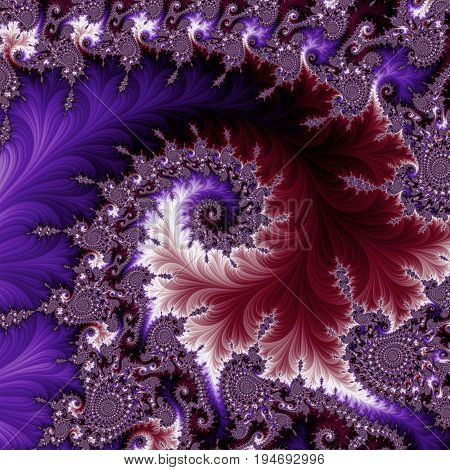 Blue and dark red fractal.