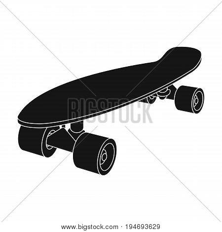 Skateboard.Extreme sport single icon in black style vector symbol stock illustration .