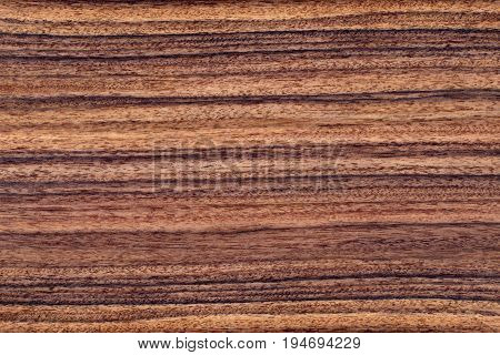Texture of brown palisander wood background veneer.