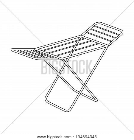 Drying for clean linen. Dry cleaning single icon in black style vector symbol stock illustration .