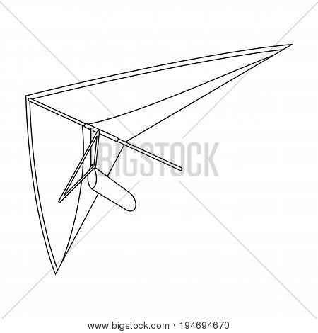 Hang gliding.Extreme sport single icon in outline style vector symbol stock illustration .