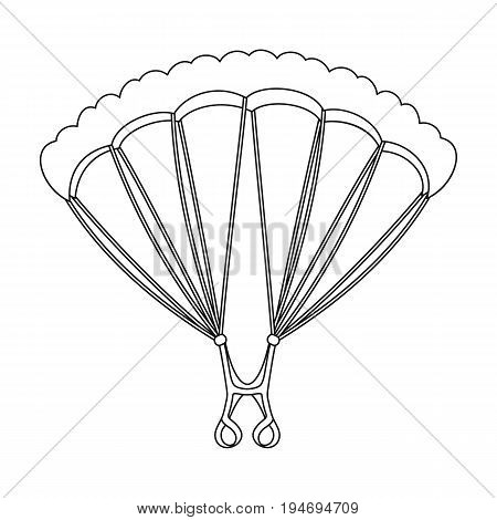 Parachuting.Extreme sport single icon in outline style vector symbol stock illustration .