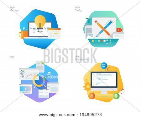 Material design icons set for web design and  development, SEO, web manager. UI/UX kit for web design, applications, mobile interface, infographics and print design.