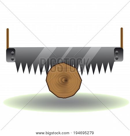Saw logs icon. Vector illustration for a site