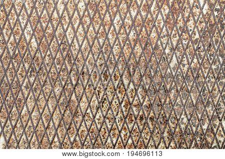 Old Grunge Relief Metal Floor Seamless Of Steel Sheet Metallic.
