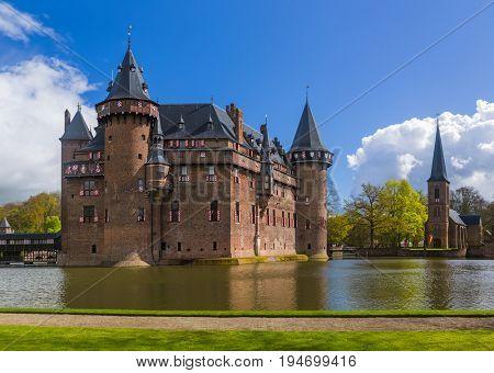 De Haar castle near Utrecht - Netherlands - architecture background