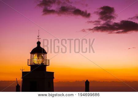 Lighthouse Ponta do Pargo - Madeira Portugal - travel background