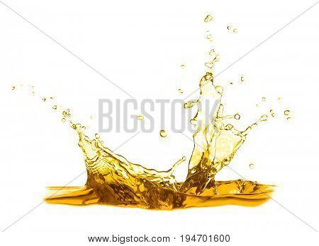 Cooking oil splash on white background