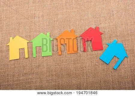 House Shape Cut Out Of Colorful Paper