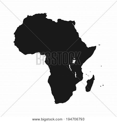 Africa Map. Monochrome Africa Continent Icon