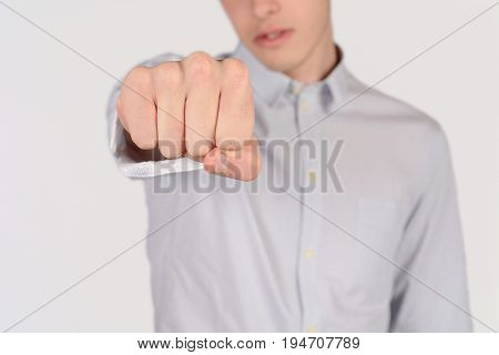 Man Punching To The Front.