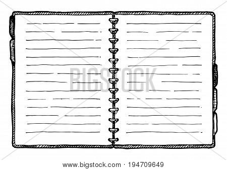 Illustration Of  Notebook