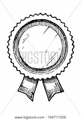 Illustration Of  Retro Label