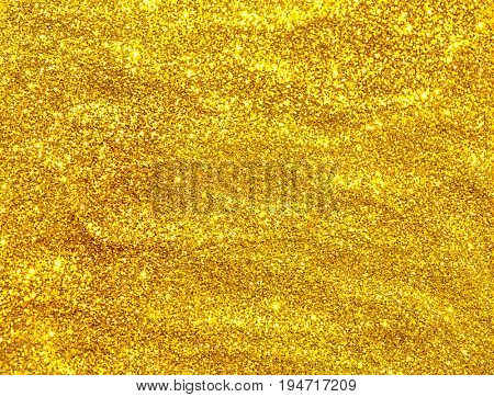 Golden glitter seamless texture. Abstract Christmas background.