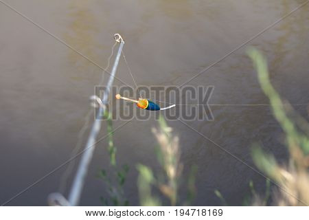 float for fishing on the river . A photo
