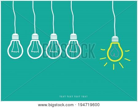 Vector light bulb Ideas, creative designs, convey ideas new ideas.
